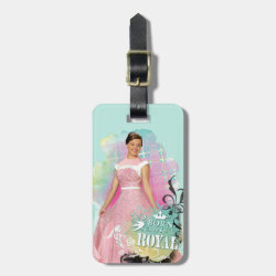 Small Luggage Tag with leather strap with Descendants Audrey: Born to Be Royal design