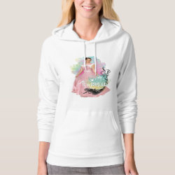 Women's American Apparel California Fleece Pullover Hoodie with Descendants Audrey: Born to Be Royal design
