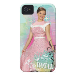 Case-Mate iPhone 4 Barely There Universal Case with Descendants Audrey: Born to Be Royal design