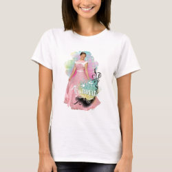 Women's Basic T-Shirt with Descendants Audrey: Born to Be Royal design