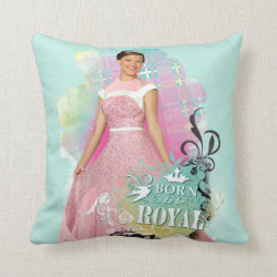 Cotton Throw Pillow with Descendants Audrey: Born to Be Royal design