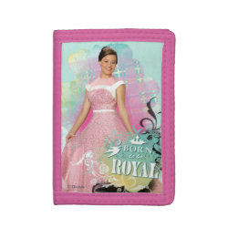 TriFold Nylon Wallet with Descendants Audrey: Born to Be Royal design