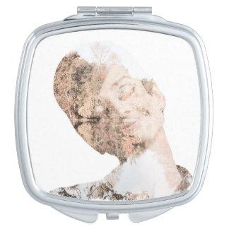 Audrey Double Exposure Print Makeup Mirror
