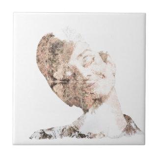Audrey Double Exposure Print Tile