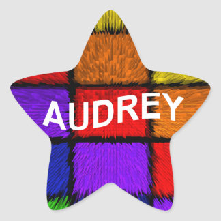 AUDREY ( female names ) Star Sticker