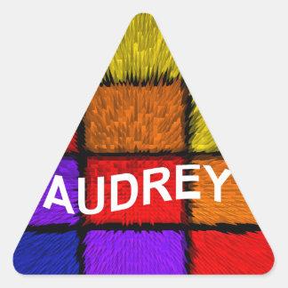 AUDREY ( female names ) Triangle Sticker