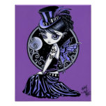 """Audrey"" Gothic Victorian Fairy Poster"