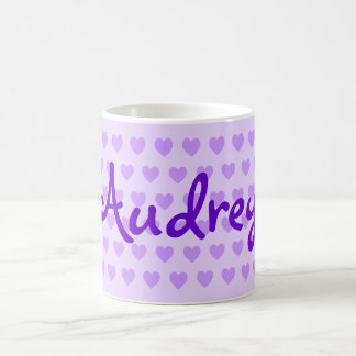 Audrey in Purple Coffee Mug