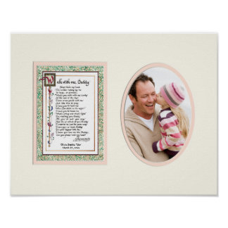 Audrey Jeanne's Walk With me Daddy Pink Girl Photo Poster
