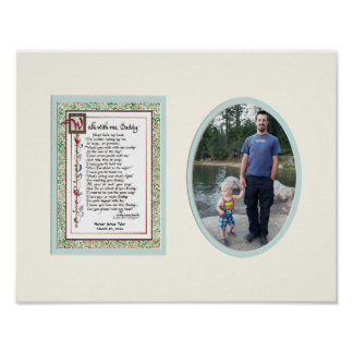 Audrey Jeanne's Walk With me Daddy Poem w Photo Poster