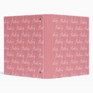 Audrey - Modern Calligraphy Name Design 3 Ring Binder