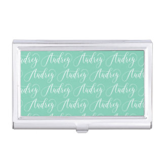 Audrey - Modern Calligraphy Name Design Business Card Case