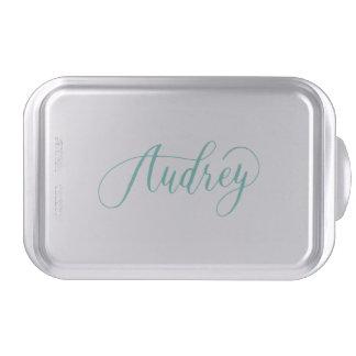 Audrey - Modern Calligraphy Name Design Cake Pan