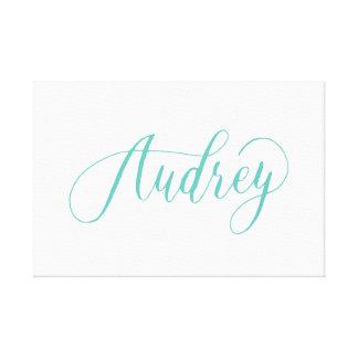 Audrey - Modern Calligraphy Name Design Canvas Print