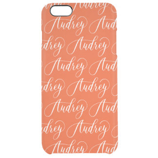 Audrey - Modern Calligraphy Name Design Clear iPhone 6 Plus Case