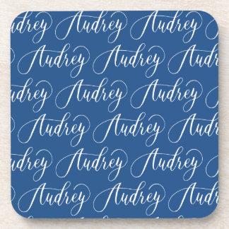 Audrey - Modern Calligraphy Name Design Coaster