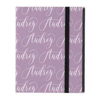 Audrey - Modern Calligraphy Name Design iPad Case