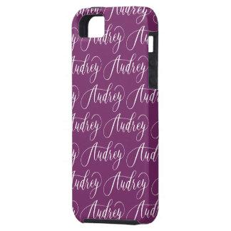 Audrey - Modern Calligraphy Name Design iPhone SE/5/5s Case