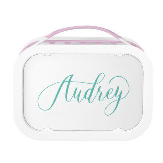 Audrey - Modern Calligraphy Name Design Lunch Box
