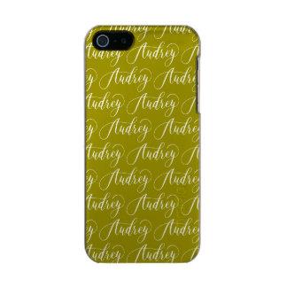 Audrey - Modern Calligraphy Name Design Metallic Phone Case For iPhone SE/5/5s