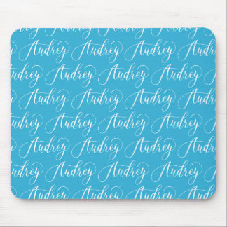 Audrey - Modern Calligraphy Name Design Mouse Pad