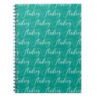 Audrey - Modern Calligraphy Name Design Notebook