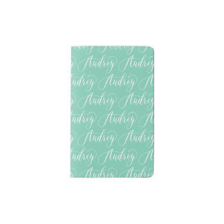 Audrey - Modern Calligraphy Name Design Pocket Moleskine Notebook