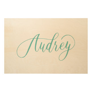 Audrey - Modern Calligraphy Name Design Wood Wall Decor