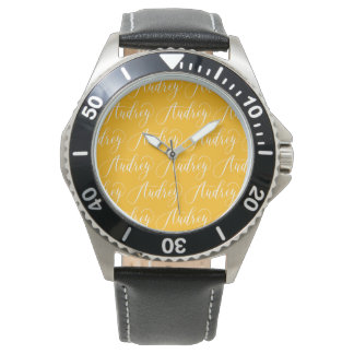 Audrey - Modern Calligraphy Name Design Wrist Watches