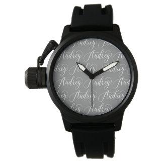 Audrey - Modern Calligraphy Name Design Wristwatch
