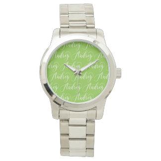 Audrey - Modern Calligraphy Name Design Wristwatches