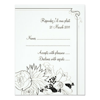 Audrey Wedding RSVP Invitations