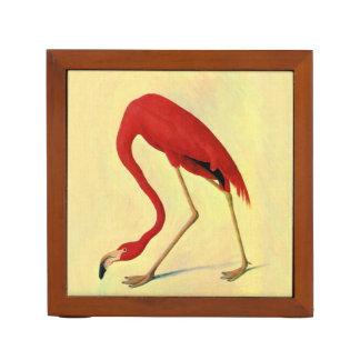 Audubon American Flamingo Painting Desk Organizer