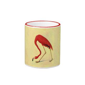 Audubon American Flamingo Painting Ringer Coffee Mug