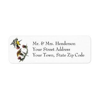 Audubon American Goldfinch Custom Return Address Labels