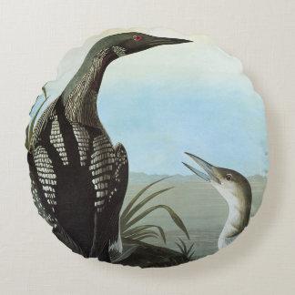 Audubon: Arctic Loon Round Pillow