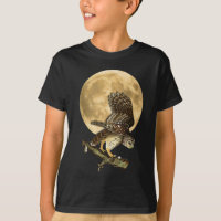Audubon Barred Owl Moon Shirt Halloween