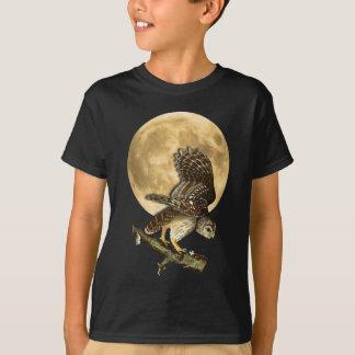 Audubon Barred Owl Moon Shirt Halloween