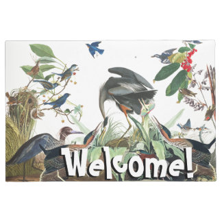 Audubon Birds Collage Wildlife Welcome Doormat