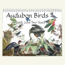 Audubon Birds Wildlife Animals 2018 2019 Calendar