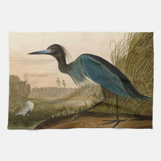 Audubon Blue Crane Heron Birds of America Hand Towel