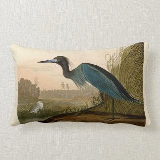 Audubon Blue Crane Heron Birds of America Lumbar Pillow