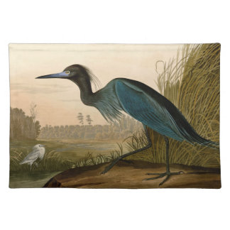 Audubon Blue Crane Heron Birds of America Placemat