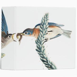 Audubon Bluebird Birds Wildlife Floral Binder