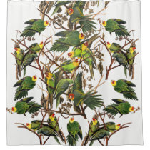Audubon Carolina Parrot Bird Animal Shower Curtain