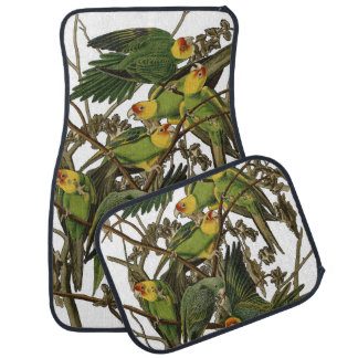 Audubon Carolina Parrot Print Birds of America Car Mat