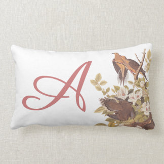 Audubon Carolina Turtle Dove Personalized Pillow