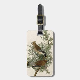 Audubon Cedar Waxwing Bird Bag Tag