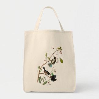 Audubon: Chickadee Grocery Tote Bag