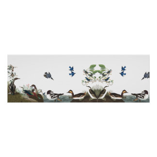 Audubon Collage Birds Animal Wildlife Poster 1